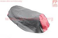 Чехол сиденья (эластичный, прочный материал) черный/красный на скутер Storm 50, 150, NEW (Viper)
