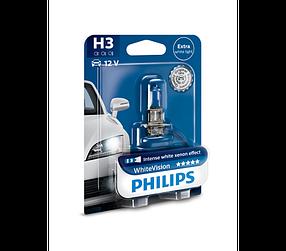 Автомобильная лампа Philips WhiteVision +60%, H3 (PK22s) 12V 12336WHVB1, ОРИГИНАЛ