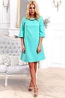 Молодежное свободное платье А-силуэта из жаккарда 90257/1, фото 1