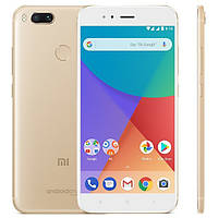 "Смартфон Xiaomi Mi A1 4/32GB Gold, 8 ядер, 12+12/5Мп, 5.5"", 2Sim, 4G, 3080мАh, AndroidOne"
