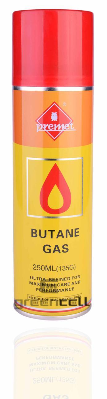 Газ для заправки зажигалок Premet 250 мл