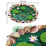 Интерьерная наклейка - Рыбки в пруду 3D (90х60см), фото 3