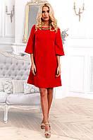 Молодежное свободное платье А-силуэта из жаккарда 90257/2, фото 1