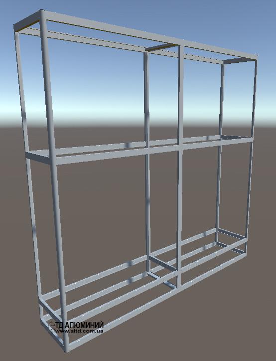 Торгові стелажі для магазину | Конструктор з торгових профілів М-24