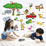 Интерьерная наклейка на стену Животные (на английском языке), фото 5