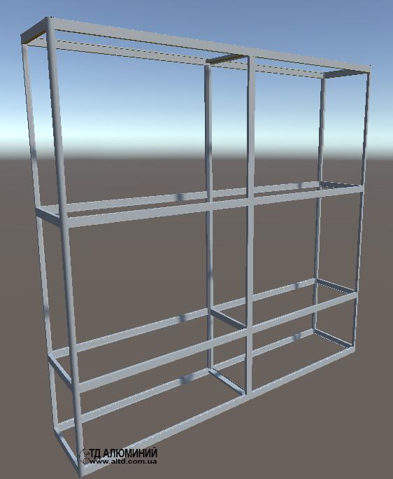 Выставочные торговые витрины. Конструктор для самостоятельной сборки. Модель-27