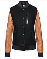 100% оригинал. Женская куртка кожаная шерстяная для активного отдыха Nike NSW Destroyer