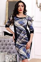 Удобное повседневное платье из французского трикотажа 90258, фото 1