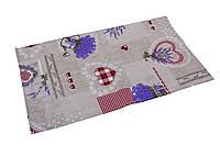 Наперон с принтом  Лаванда и Сердце, 50х150 см, Эксклюзивные подарки, Столовый текстиль