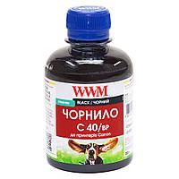 Пигментные чернила WWM для Canon PG-40Bk/PG-50Bk/PGI-5Bk 200г Black  (C40/BP)