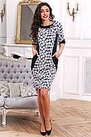 Удобное повседневное платье из французского трикотажа 90258/1, фото 1