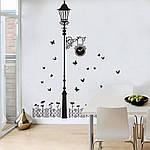 Интерьерная наклейка на стену Фонарь и бабочки, фото 4