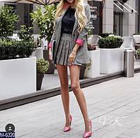 Костюм-двойка женский пиджак юбка