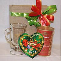 Подарок девушке День Валентина Чашка + Чай + валентинка