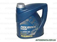 Масло моторное п/синтетика MANNOL Molibden benzin 10W-40 4L SL/CF