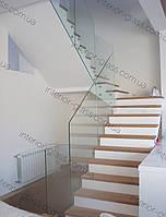 Стеклянное ограждение балкона и лестницы