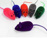 Игрушка для кошек Мышь велюроваяпищащаяTriol