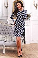 Стильное повседневное платье из французского трикотажа 90259/2, фото 1