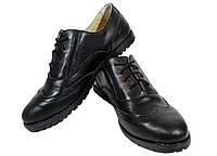 Туфли женские комфорт натуральная кожа черные на шнуровке Юлиана (122чк), фото 1