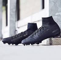 Футбольные бутсы Nike Mercurial Superfly V DF-FG Black, фото 1