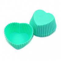 Набор формочек для кексов Fissman 6 шт. Аквамарин (Силикон)