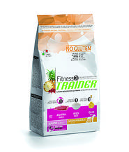 Корм Trainer Fitness3 (Трейнер Фітнес) Puppy Junior Medium Maxi With Duck Rice Oil для цуценят середніх і великих порід качка з рисом, 3 кг