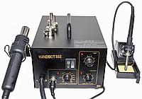 Паяльная станция HandsKit 852 термофен и паяльник 2в1 (EXtools) компрессорная, фото 1