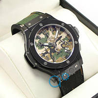 Часы мужские Hublot Big Bang Chronograph AAA Military