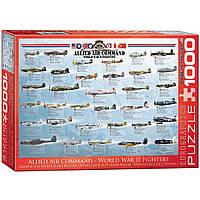 """Пазл """"Истребители 2-й Мировой войны"""" 1000 элементов EuroGraphics (6000-0379)"""