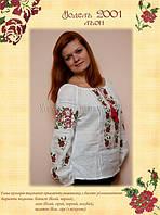 Блуза с вышивкой Летняя роза