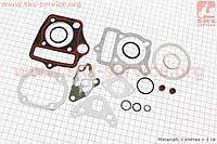 Прокладки поршневой к-кт 70cc + крышек головки + сальники клапанов, манжеты мопеда Delta (Viper)