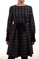 Изысканное платье в стильную клетку