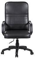 Компьютерное кресло Richman Armchair Prius 1001-1007х610х670 мм кожзам черный на колесиках