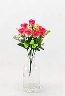 Роза бутон 7 голов с кашкой 34 см 20 штук в упаковке