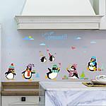 Интерьерная наклейка на стену Пингвины, фото 2