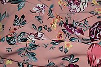 Ткань костюмка  цветы крупный рисунок , фото 1