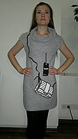 Туника платье женское с вышитой сумочкой. Оптом.