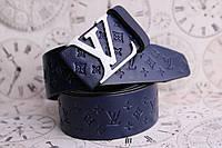 Louis Vuitton кожаный синий ремень