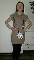 Туника платье женское с вышитой сумочкой и бисером. Оптом.