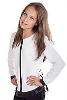 Нежная белоснежная блуза для девочек 134-140р
