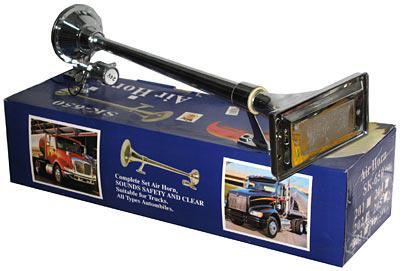 Сигнал 1-дудка пневмо CA-13740 24V металл хром прямоуг. 740мм