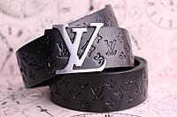 Луи Витон черный кожаный ремень