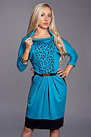 Платье женское мод 441-5 ,размер 48,50 бирюза