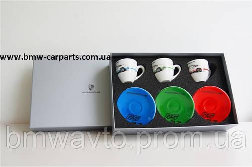 Набор из трех чашек для эспрессо Porsche Espresso cups, set of 3 – RS 2.7 Collection, фото 2