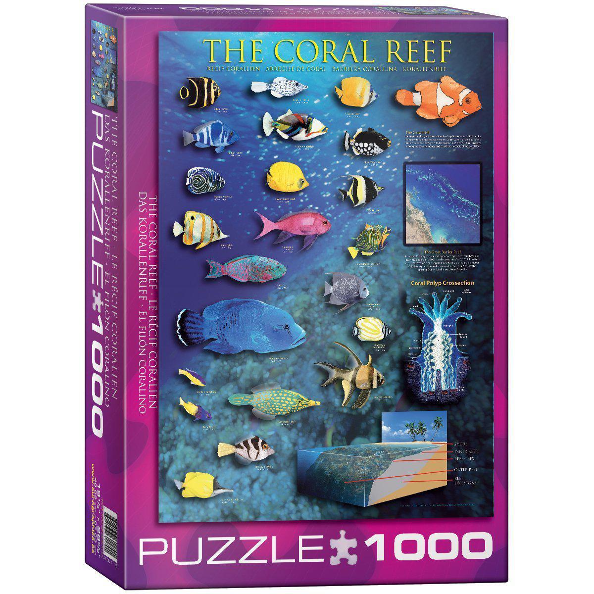 """Пазл """"Кораловий риф"""" 1000 елементів EuroGraphics (6000-1170)"""