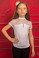 Прекрасная школьная блуза для девочек 128-146р