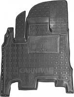 Полиуретановый водительский коврик для KIA Carnival II АКП первый и второй ряд 2006-2014 (AVTO-GUMM)