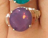 Кольцо серебряное с золотыми накладками Линда с турмалином