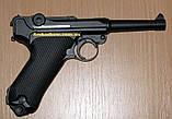 Пистолет пневматический KWC Parabellum P 08 Blowback, фото 2