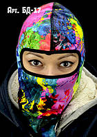 Балаклава лыжная, маска, подшлемник с оригинальным принтом
